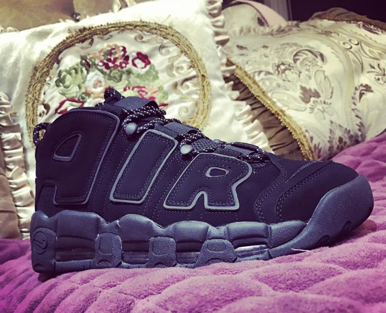 2018 Cheap Nike Air More Uptempo Triple Black For Sale  HO278 ... c61524dbb9c4