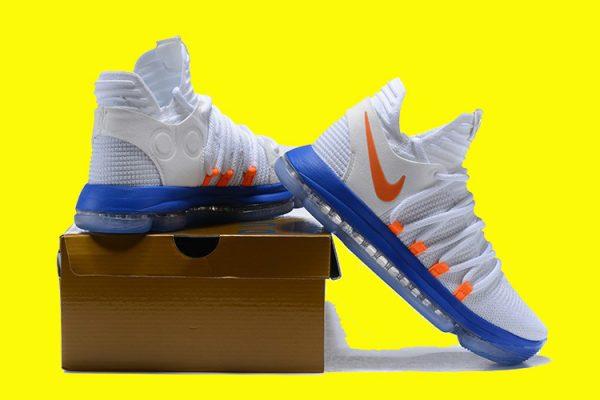 131ddd5d99d3 Nike KD 10 White Blue and Orange For Sale  HO1180  -  49.00   2018 ...