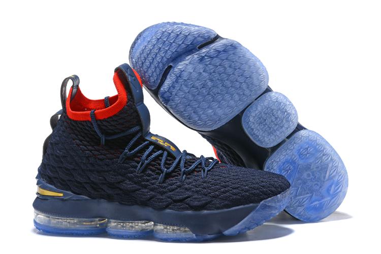 Nike LeBron 15 Navy Blue University Red For Sale  HO1346  -  85.00 ... f8647c44e